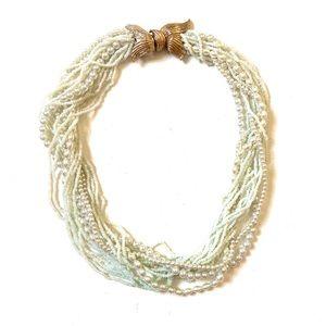 Vintage Jewelry - Vintage seed bead statement necklace